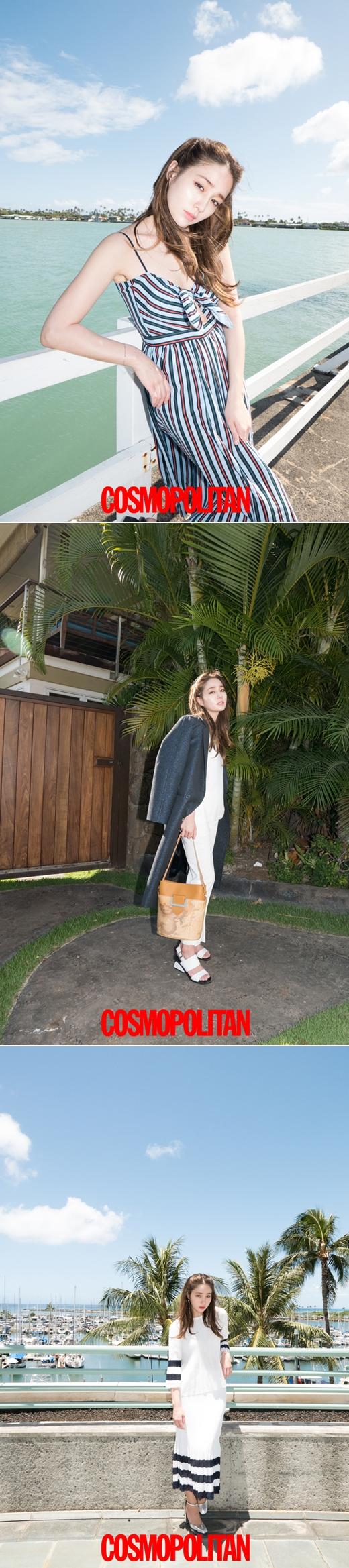 이민정 하와이 화보, '청순하게, 시크하게'