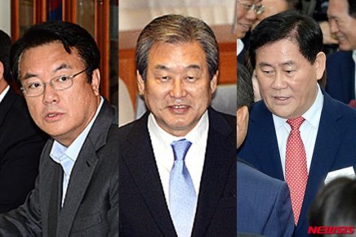 새누리당 정진석 원내대표와 김무성 전대표· 최경환 의원(왼쪽부터). /자료사진=뉴시스