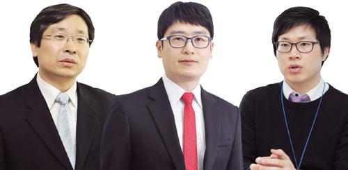 (왼쪽부터)박원갑 KB국민은행 부동산 수석전문위원, 윤지해 부동산114 리서치센터 책임연구원, 장재현 리얼투데이 리서치센터 팀장.