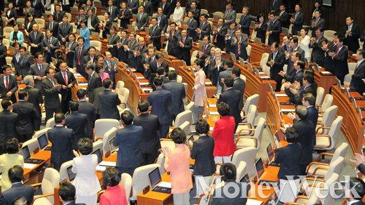 [MW사진] 제20대 국회 개원, '입장하는 박근혜 대통령'