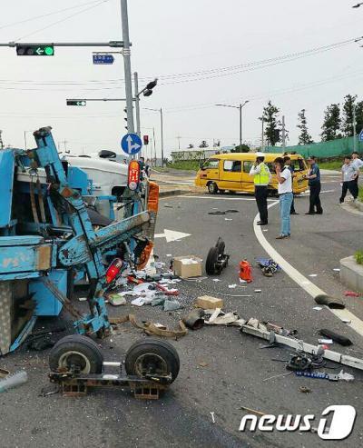 지난 15일 제주 어린이집 차량사고가 발생했다. /사진=뉴스1