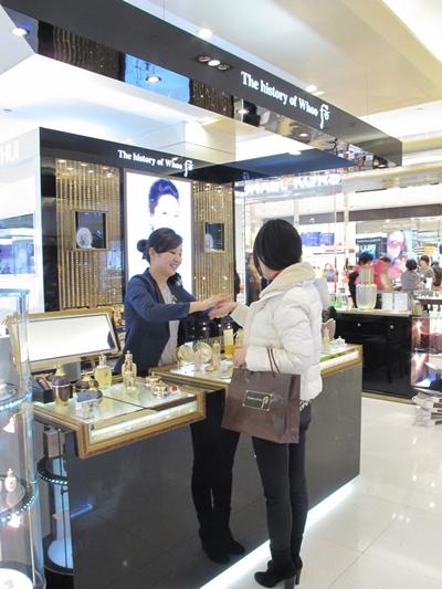 LG생활건강 화장품 브랜드 후가 상하이 백화점 매장에 입점해 있다. /자료사진=머니투데이DB