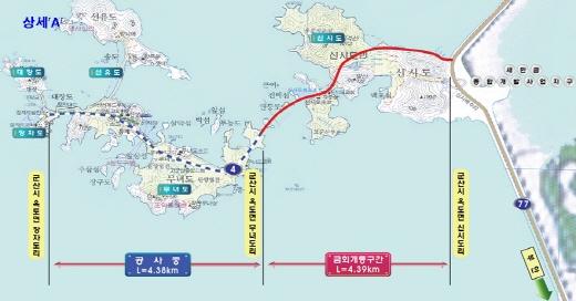 새만금방조제~고군산군도 국도4호선 상세위치도. /사진=국토부