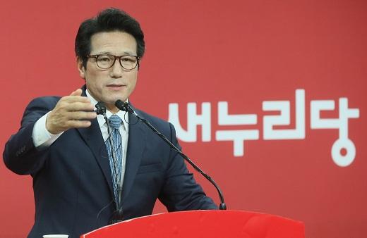 정병국 새누리당 의원이 10일 서울 여의도 새누리당 당사에서 기자회견을 열고 8·9전당대회 출마를 공식 선언했다. /사진=뉴스1 송원영 기자