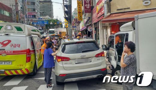 성남 사고. 사고 SUV 차량. /사진=뉴스1