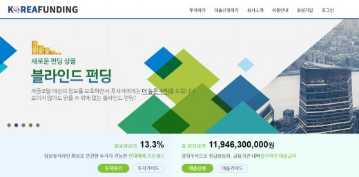 P2P금융 코리아펀딩, 연평균 수익률 13.3% 기록