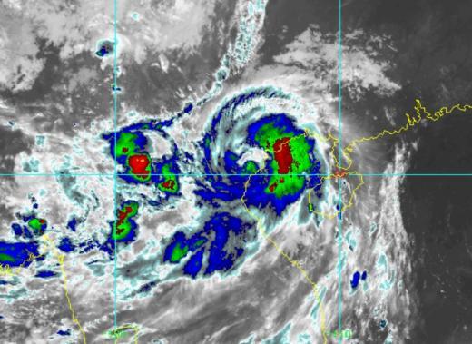 태풍 미리내 위성사진. /사진=미국 해양대기청