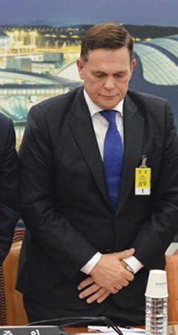 지난해 국토교통위원회 종합감사에 출석한 요하네스 타머 아우디폭스바겐코리아 사장. (당시 아우디코리아사장) /사진=뉴시스