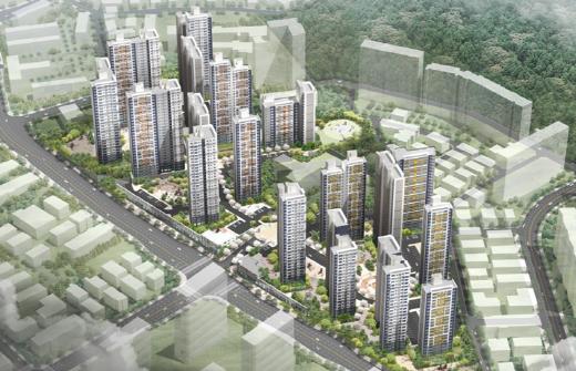 광명16구역 주택재개발정비사업 조감도. /사진=두산건설