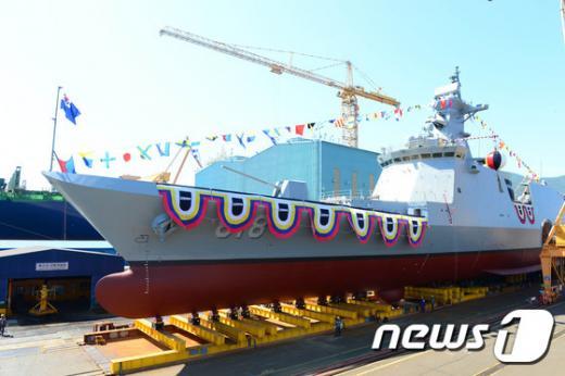 해군의 2천800t급 신형 호위함(FFG-Ⅱ) 1번함 '대구함'. /사진=뉴스1