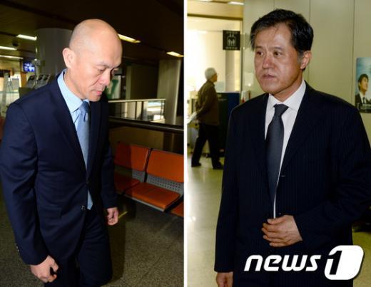 전두환 전 대통령의 차남 전재용씨(왼쪽)와 처남 이창석씨. /자료사진=뉴스1