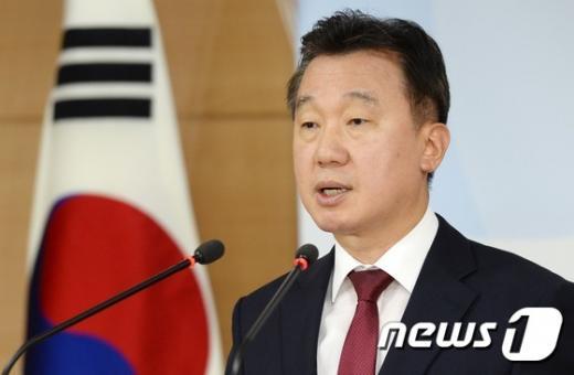 북한 김용진. 사진은 정준화 통일부 대변인 . /자료사진=뉴스1