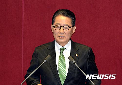 박지원 국민의당 비대위원장이 오늘(7일) 국회에서 교섭단체 대표연설을 하고 있다. /자료사진=뉴시스