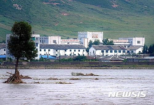 북한 수해. 사진은 지난 2일 중국 지린성에서 바라본 북한. /자료사진=뉴시스