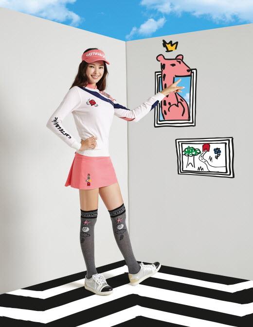 까스텔바쟉, 아트 화보 컬렉션 공개…이하늬 모델로 경쾌한 느낌 연출