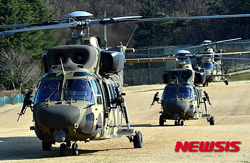 수리온 헬기. 지난 3월 대구 2작전사령부에서 열린 육군항공·특공부대 전개훈련에서 수리온 헬기가 이륙을 준비하고 있다. /자료사진=뉴시스