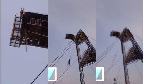번지점프 사고. /자료=유튜브 영상 캡처