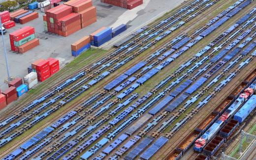 철도 파업 장기화에 멈춰선 화물열차 모습. /사진=뉴시스 DB