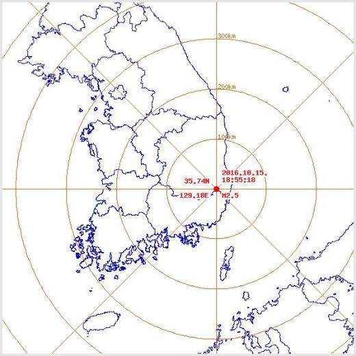 경주 지진. 오늘(15일) 오후 7시55분쯤 경북 경주시 남남서쪽 11km 지역에서 규모 2.5 지진이 발생했다. /자료=기상청