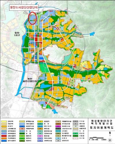 산업용지 토지이용계획도. /사진=LH