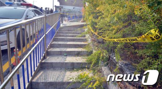 오패산터널. 경찰이 오늘(20일) 서울 강북구 오패산터널 근처 총기 사고 현장을 보존하고 있다. /자료사진=뉴스1