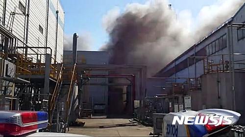 울산 화재. 온산공단 화재. 울산시 온산공단 한 화학공장에서 화재가 발생해 1명이 다쳤다. /사진=뉴시스