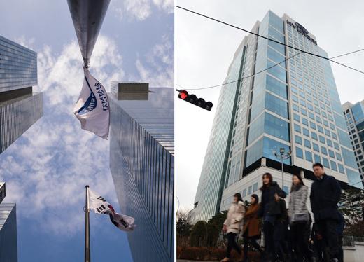 (왼쪽부터)삼성전자 서초사옥, 현대차 양재동 사옥. /사진=뉴스1 DB