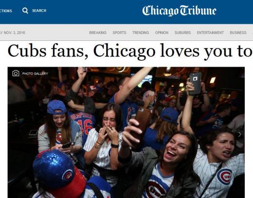 월드시리즈 시카고 컵스 우승 염소의 저주. /사진=미국 시카고트리뷴 캡처