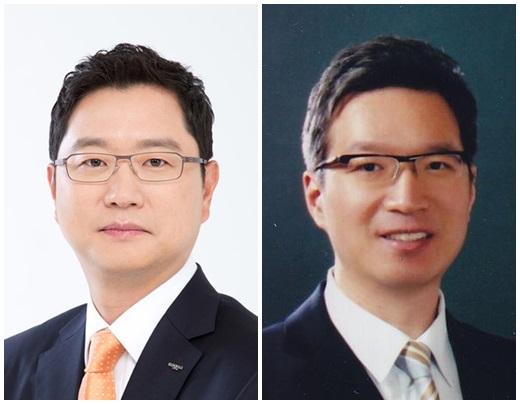 윤웅섭 일동제약 대표(왼쪽)와 윤석빈 크라운제과 대표. /사진=머니투데이DB