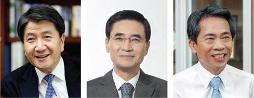 (왼쪽부터)김창수 삼성생명 사장, 안민수 삼성화재 사장, 김용복 NH농협생명 사장.