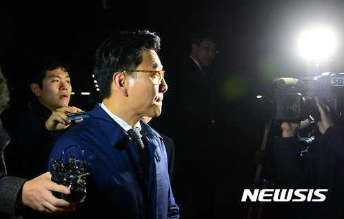 김재열 검찰 조사. 김재열 사장이 18일 검찰 조사를 받은 뒤 귀가하고 있다. /사진=뉴시스