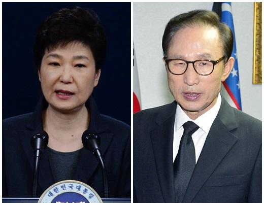 박근혜 대통령(왼쪽)과 이명박 전 대통령. /사진=뉴시스
