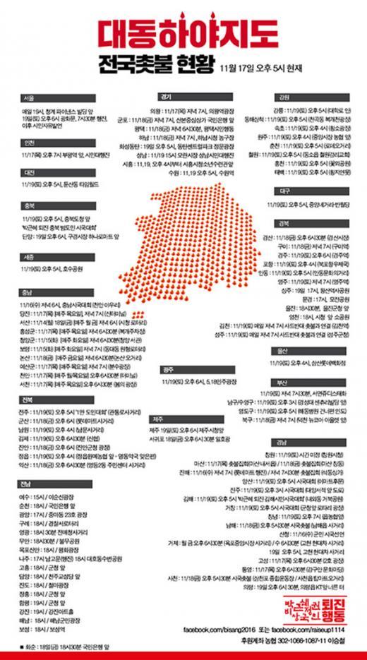 대동하야지도. /자료='박근혜 정권 퇴진 비상국민행동' 페이스북