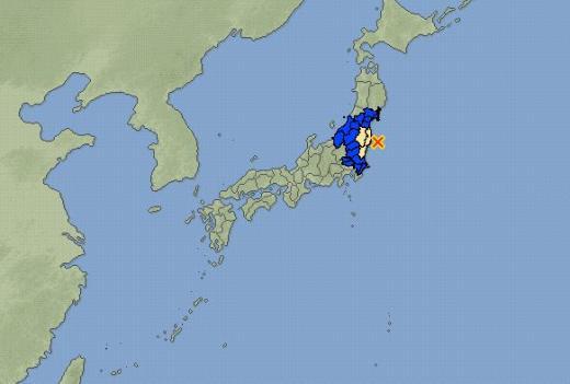 일본 지진. 후쿠시마 지진 NHK. /자료=일본기상청