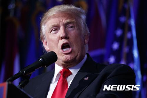 도널드 트럼프 미국 대통령 당선자. /사진=뉴시스(AP 제공)