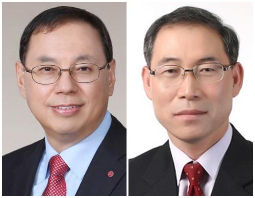 조성진 LG전자 CEO(왼쪽)와 송대현 LG전자 H&A사업본부장. /사진=LG전자