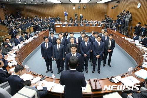 청문회 생중계. 지난주 열린 국회 박근혜 최순실 게이트 국조특위 2차 청문회. /자료사진=뉴시스
