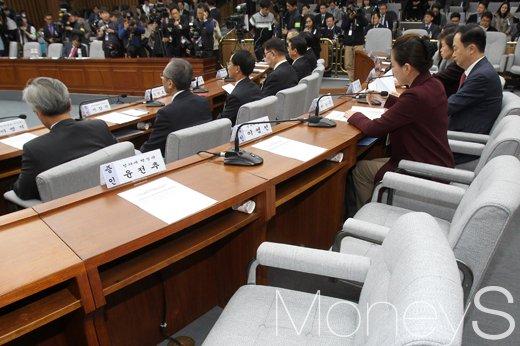 [머니S포토] 국조특위 3차 청문회, 불출석한 윤전추-이영선 청와대 행정관