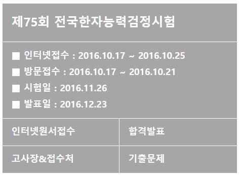 한국어문회. 한자능력검정시험. /자료=한국어문회 홈페이지 캡처