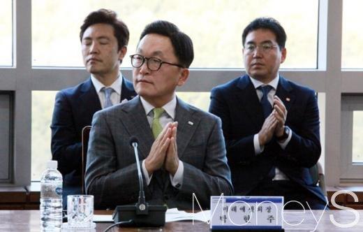 [머니S포토] 미래에셋 경도관광단지 본계약 참석한 박현주 회장