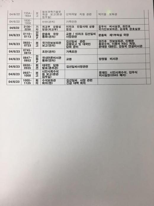 노무현 일정표. /사진=이해찬 민주당 의원실 페이스북