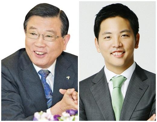 금호아시아나그룹 박삼구 회장(왼쪽)과 박세창 사장. /사진=금호아시아나그룹