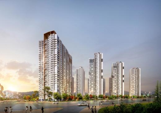 면목3구역 재건축아파트 투시도. /사진=현대산업개발