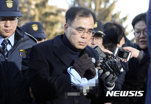 김종 전 차관 정유라 충격. 김종 전 차관이 23일 헌법재판소에 증언을 위해 출석하고 있다. /자료사진=뉴시스