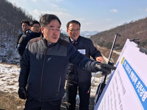 정승 농어촌공사 사장, 충남 가뭄대책 현장 점검