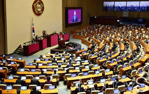 [머니S포토] 교섭단체 대표 연설하는 안철수