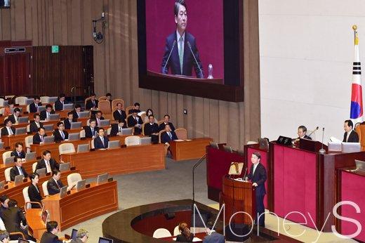 [머니S포토] 안철수 전 대표 교섭단체 연설, 황교안 대행 및 부총리 출석