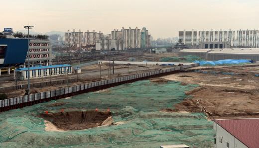 현재 개발이 진행 중인 용산역 철도정비창 부지의 과거 모습. /사진=뉴시스 DB