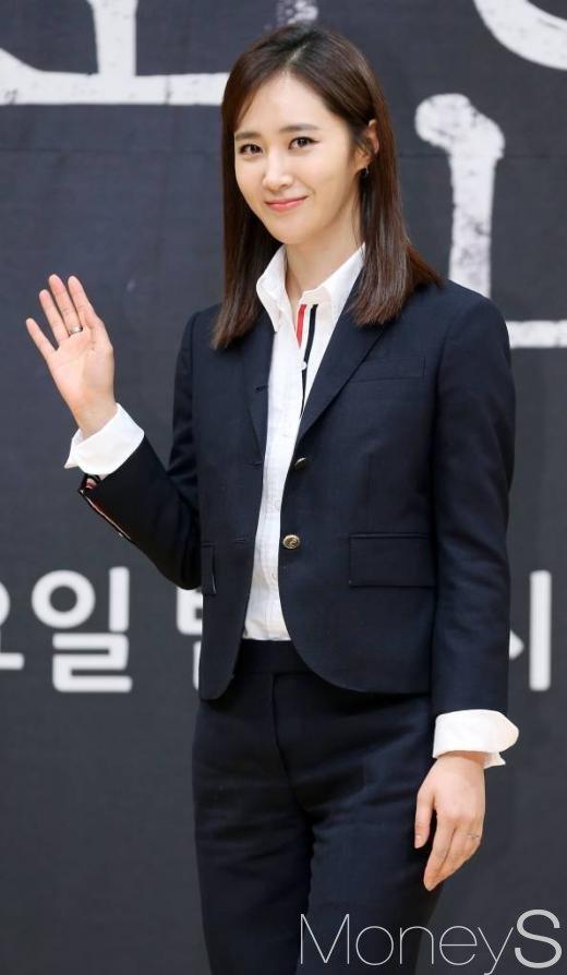 드라마 '피고인' 제작발표회에 참석한 소녀시대 유리/사진=머니투데이 김휘선 기자