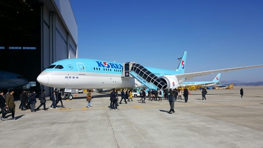 대한항공, '꿈의 항공기' 보잉 787-9 공개
